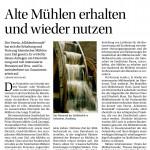 20151105_Bauernzeitung_Nr 45_2015_Alte Mühlen erhalten und wieder nutzen
